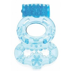 Виброкольцо Blue SH-SHT005BLU с кольцом для мошонки